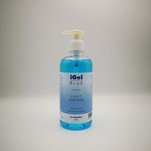iGel Blue gel antibacterian pentru maini, flacon 500 ml, cu pompita